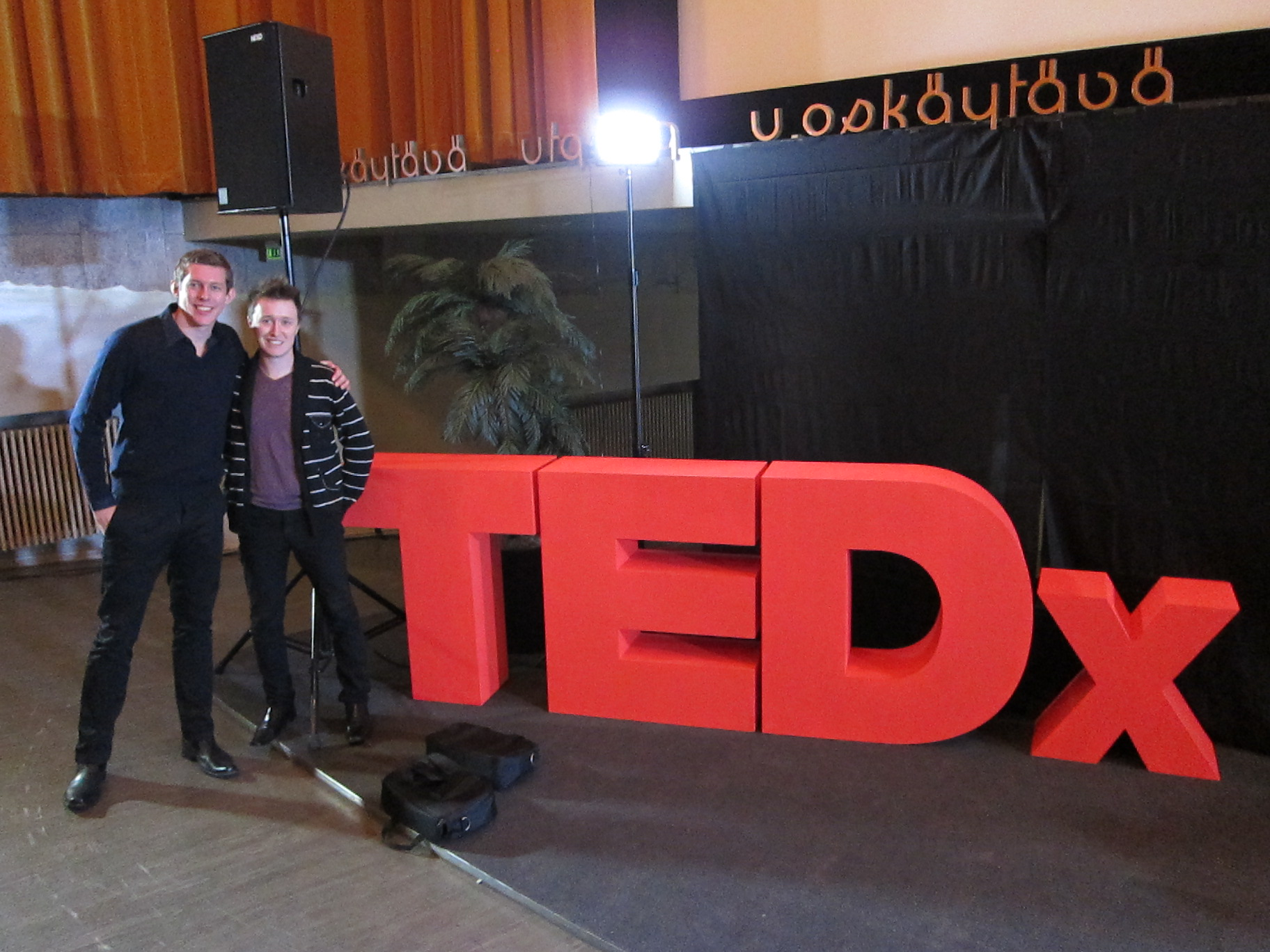 Getting ready to speak and perform at the TEDx in Helsinki