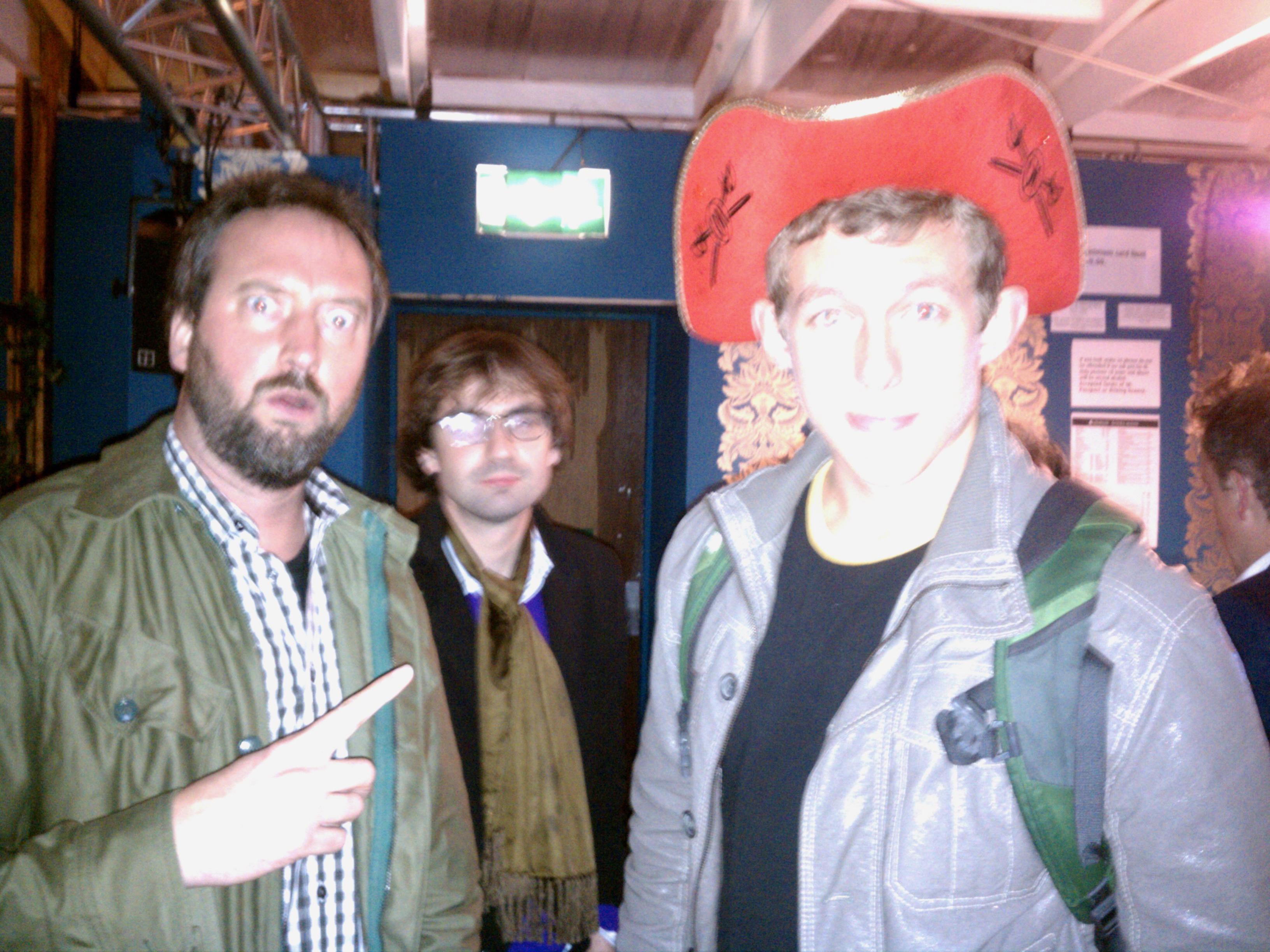 With Tom Green in Edinburgh